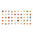 farm harvest agriculture rural isometric icons vector image vector image