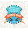 fishing club patch live love fish vector image
