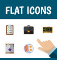 flat icon life set of questionnaire fried egg vector image vector image