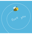 Flying bee Dash spiral in the sky Card vector image vector image