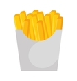 french frieds fast food icon vector image