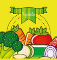 fresh and delicious set of vegetables vector image vector image