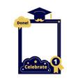 graduation party photo frame props selfie vector image
