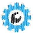 halftone dot service tools icon vector image vector image