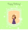 Happy Birthday card with fairy princess vector image vector image