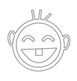 happy kid icon vector image vector image