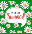 hello summer greeting card vector image vector image