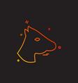 horse icon design vector image vector image
