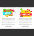 hot summer sale promotional vertical banners set vector image vector image