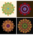 Indian ornament kaleidoscopic floral pattern vector image vector image