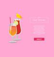 lets get drinks web poster with lemonade cocktails vector image