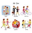 Lifestyle Cartoon Set vector image vector image