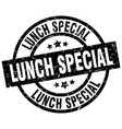 lunch special round grunge black stamp vector image vector image