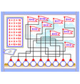 multiplication table 8 for kids write the vector image vector image