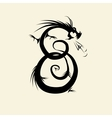 Number eight made from dragon vector image vector image