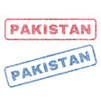 pakistan textile stamps vector image vector image