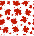 pattern from maple leaves vector image