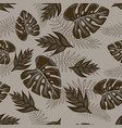 pattern with palm leaves vector image vector image