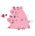 pigs mating vector image vector image