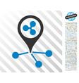 ripple location links flat icon with bonus vector image vector image