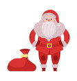 Santa claus in red costume