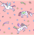 seamless pattern from cute unicorns vector image