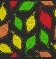 seamless pattern with decorative autumn leaves vector image