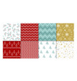 set of winter patterns vector image vector image