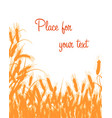 silhouette of wheat vector image