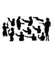 silhouettes a person holding a gun vector image vector image