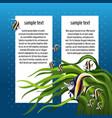sketch card with space for text and fish zanclus vector image vector image
