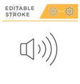 speaker editable stroke line icon vector image vector image