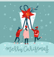 square greeting card tree women carrying a vector image vector image