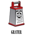 Stainless steel kitchen grater vector image