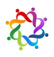 Teamwork social networking people logo vector image