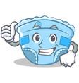 thumbs up baby diaper character cartoon vector image vector image