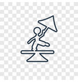 tightrope walker man concept linear icon isolated vector image vector image