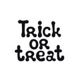 trick or treat halloween theme handdrawn vector image