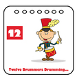 Twelve drummers drumming cartoon vector image vector image