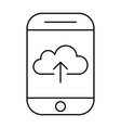 uploading to cloud storage using smartphonemobile vector image