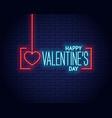 valentines day neon logo valentine neon banner vector image