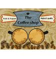 Vintage coffee shop vector image vector image