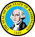 Washington state seal vector image vector image