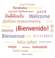 Welcome in different languages vector image vector image