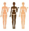 female body vector image