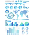Global infographic vector image
