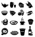 Healthy foods icons set vector image