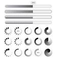 collection black-white preloaders vector image