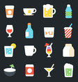 Drinks Flat Icons vector image