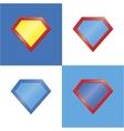 Superhero logo template blank super hero badge set vector image